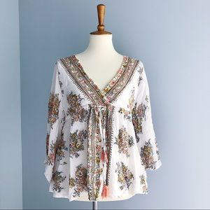 Angie Floral Blouse Size Small